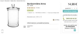 Bonbonnière Anna Maison du Monde Comment ranger ses pinceaux